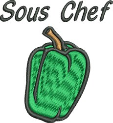 Sous Chef embroidery design