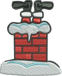 Santa Chimney embroidery design