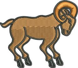 Ram Sheep embroidery design