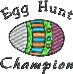 Egg Hunt Champion embroidery design