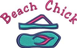 Beach Chick embroidery design