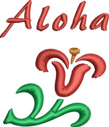 Aloha Flower embroidery design