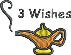 3 Wishes embroidery design