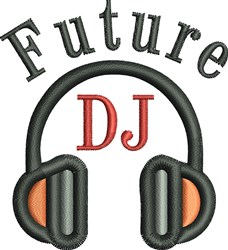 Future DJ embroidery design