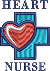 Heart Nurse embroidery design