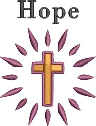Hope Cross embroidery design