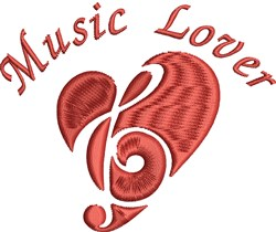 Music Lover embroidery design
