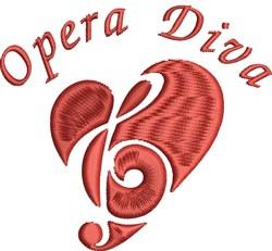 Opera Diva embroidery design