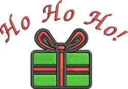 Ho Ho Ho Gift embroidery design