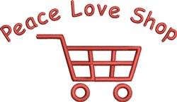 Peace Love Shop embroidery design