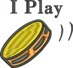 I Play Tambourine embroidery design