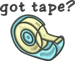 Got Tape embroidery design