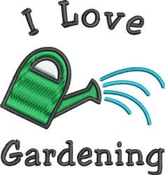 Love Gardening embroidery design