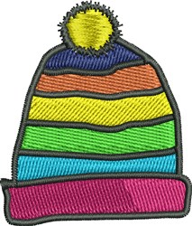 Winter Hat embroidery design