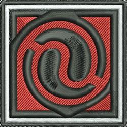 Square Spiral embroidery design