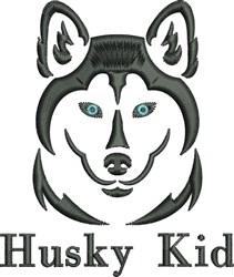 Husky Kid embroidery design
