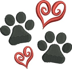 Dog Paw Prints embroidery design