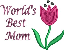 Worlds Best Mom embroidery design