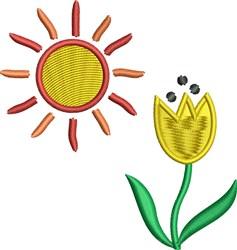 Flower Sun embroidery design