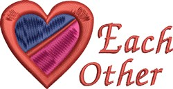 Each Other embroidery design