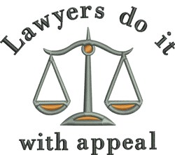 Lawyers Appeal embroidery design