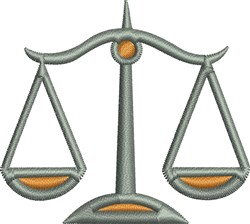 Justice Scale embroidery design