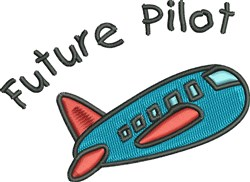 Future Pilot embroidery design