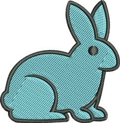 Rabbit embroidery design