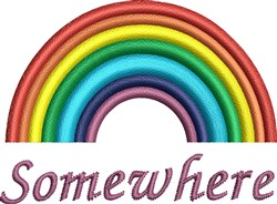 Rainbow Somewhere embroidery design