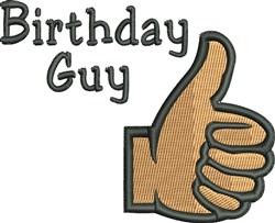 Birthday Guy embroidery design