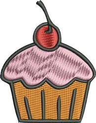 Cupcake embroidery design