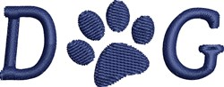 Dog Paw embroidery design