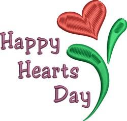 Valentine Heart Flower embroidery design