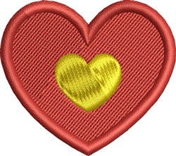 Heart of Gold embroidery design