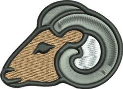 Ram Mascot embroidery design