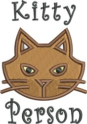 Kitty Person embroidery design