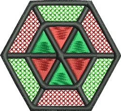 Hexagon embroidery design