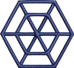 Hexagon Outline embroidery design