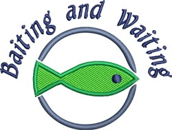 Baiting & Waiting embroidery design