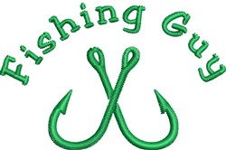 Fishing Guy embroidery design