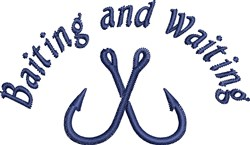 Baiting Waiting embroidery design