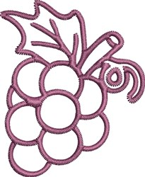 Grape Outline embroidery design