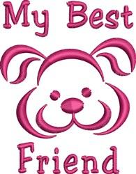 Best Friend embroidery design