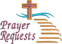 Prayer Requests embroidery design
