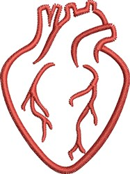 Human Heart embroidery design