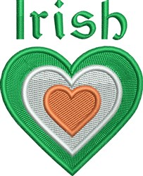 Irish Heart embroidery design