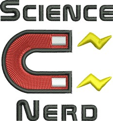 Science Nerd embroidery design