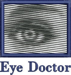 Eye Doctor embroidery design
