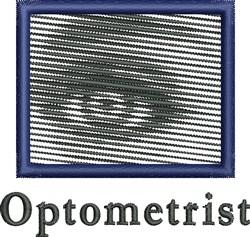 Optometrist embroidery design