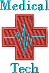 Medical Tech embroidery design